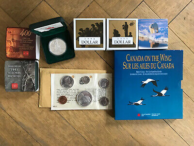 Lot - Kanada - 7x: KMS 1966, Dollar 1994, 1995, 2003, 2004, 2 Dollar 1996  Proof