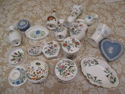 FINE SELECTION OF SMALL CHINA ITEMS - VASES,TRINKET BOXES,ALL NAMED CHINA 1st QU