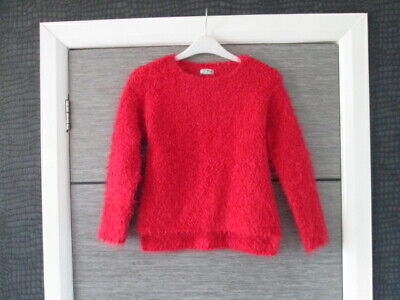 Girls Next Red Soft Feel Boucle Jumper Age 8 Yrs Vgc