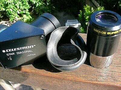Celestron 90 Degree 1 1/4 in Star Diagonal +Super Wide Angle Meade 18mm Eyepiece