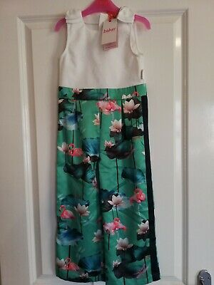 Baker by Ted Baker BNWT Girls Print Mock Jumpsuit Age 5 years