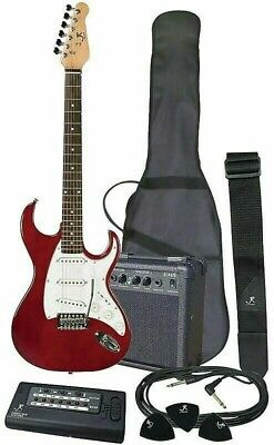 J Reynolds 6-String Electric Guitar, Amp and More Package - Trans Red - JRPAK6TR