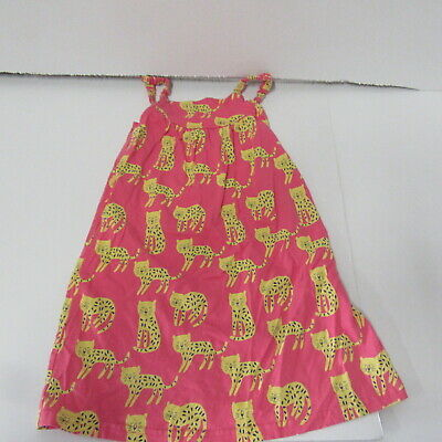 Marks & Spencers  Girls Pretty Pink  Strappy Cat Design Dress  Age 3 - 4 Years