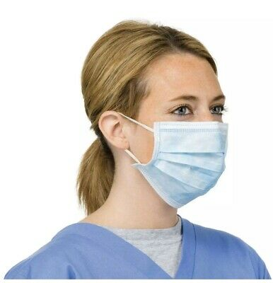 10x 3 LAYERS Surgical Flu Virus Face Mask Strip  Surgical Medical Quality