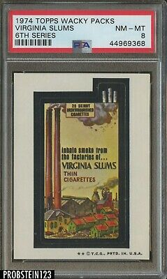 1974 Topps Wacky Packs 6th Series Virginia Slums PSA 8 NM-MT