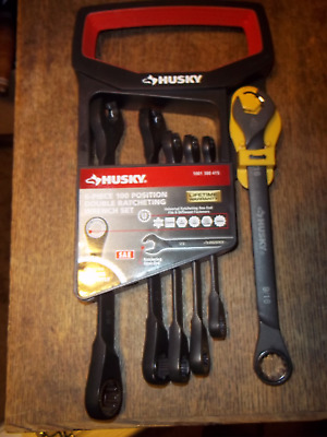Husky H100DRW6PCSAE 6-Piece Double Ratcheting SAE Wrench Set