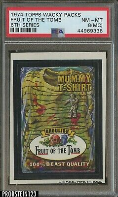 1974 Topps Wacky Packs 6th Series Fruit Of The Tomb PSA 8(MC) NM-MT