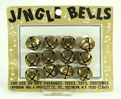 Jingle Bells, Original Criterion Card, 12 Pieces, 1 Inch, Vintage Christmas, USA