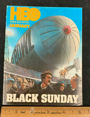 1977 January *Black Sunday* Hbo Home Box Office Movie Guide Booklet (As)