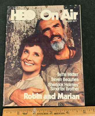 1977 January *Robin And Marian* Hbo Home Box Office Movie Guide Booklet (As)