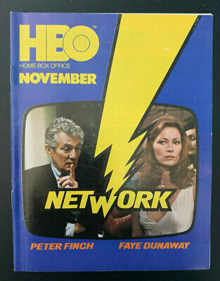 1977 November *Network/Finch* Hbo Home Box Office Movie Guide Booklet (As) D