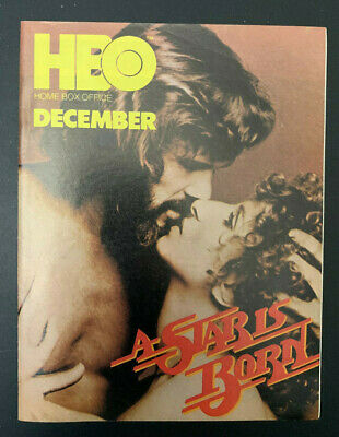 1977 December *A Star Is Born* Hbo Home Box Office Movie Guide Booklet (As)