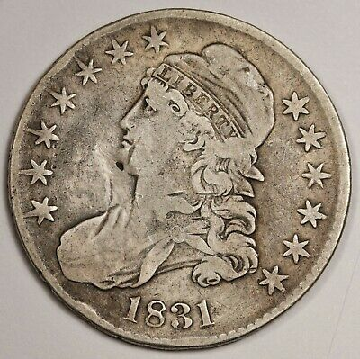 1831 Bust Half.  Rotated Reverse.  Fine Detail.  144800