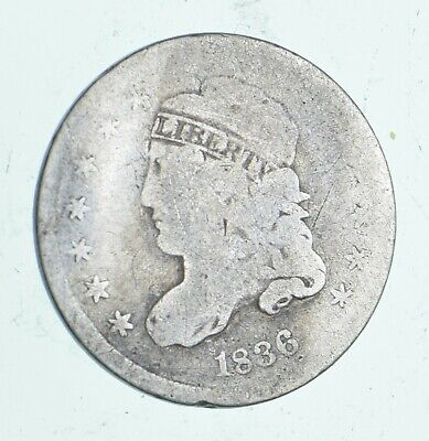 Rare - 1836 Capped Bust Half Dime - Tough to Find - US Early Silver Coin *439
