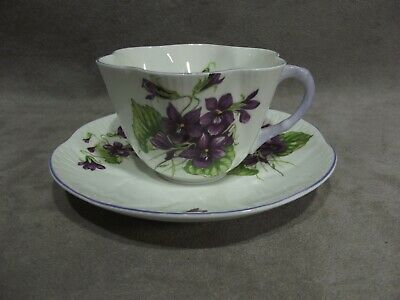 Shelley China Violets Cup & Saucer ~ 13821