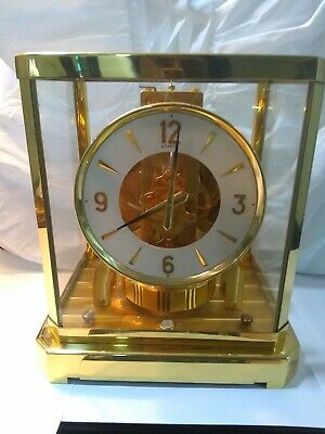 Jaeger Le Coultre ATMOS Swiss Made 15 Jewels  Caliber Mantle Clock NR Working!