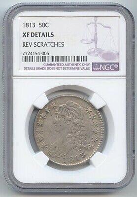 1813 Capped Bust Half Dollar, NGC XF Details