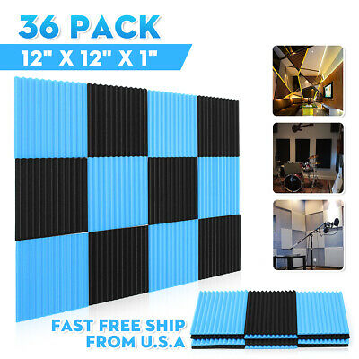12-48PCS Acoustic Panels Tiles Sound Proofing Studio Insulation Closed Cell Foam