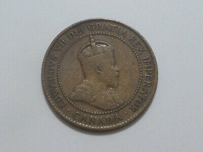 1905 Canada One 1 Cent Large Copper Penny Circulated Edward VII