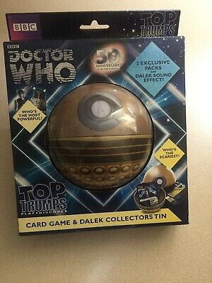 Doctor Who Top Trumps Card Game & Dalek Collectors Tin
