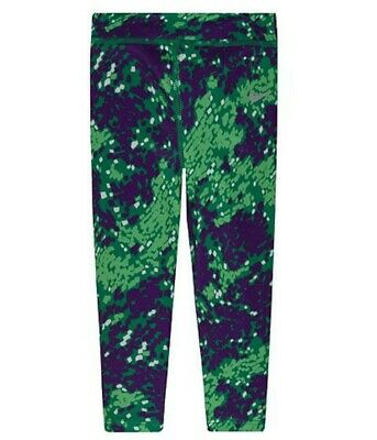 Nike Girls Sport Essential Casual Leggings, Green, 4