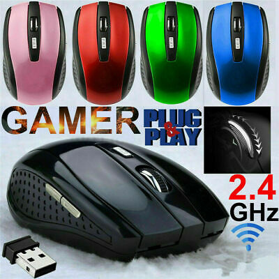 uk 2.4GHz Wireless Cordless Optical Scroll Mouse Mice For PC Laptop Computer USB