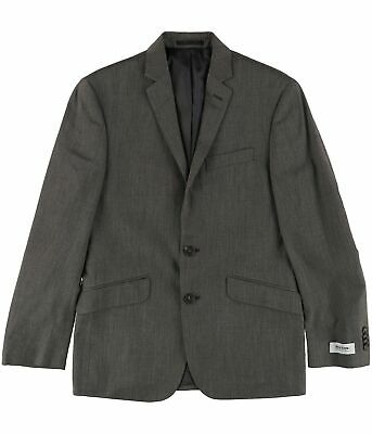 Kenneth Cole Mens Tic Two Button Blazer Jacket, Brown, 36 Short