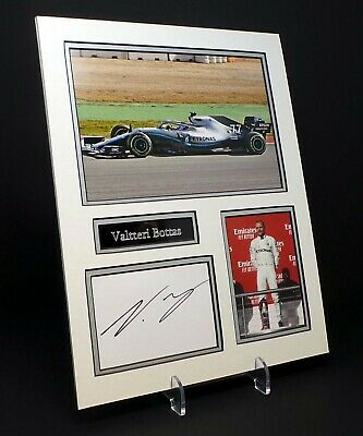 Valtteri BOTTAS Signed Mounted Photo Display AFTAL F1 Mercedes Racing Driver