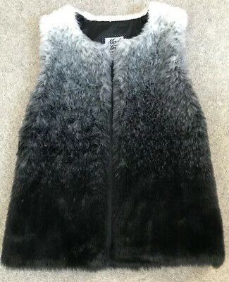 Gorgeous Girls Faux Fur Gilet Body Warmer Ombré Age 9-10 Years - Immaculate