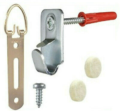 Hang A Frame Kit Up To 10Kg Picture Frame Canvas Mirror Screws Plugs Safety Hook