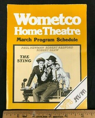 1978 Wometco Home Theatre March Program Schedule Booklet Guide *Sting* (As)