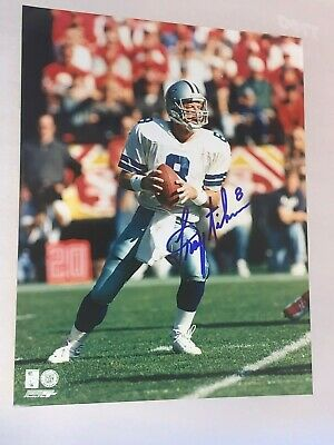 Hand Signed 8x10 Football Photo Autographed by Troy Aikman (NOT a Re-Print)