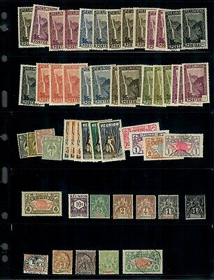 French Reunion Stamp Collection Mint+Used On Pages