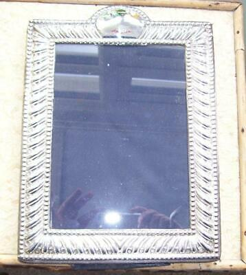 """Large 10"""" Antique Victorian Solid Silver Picture Photograph Frame w Easel Back"""