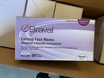 Surgical Face Mask LEVEL 3 Medical Ear Loop Braval 50 Masks ! New Arrived !