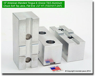"""TG-5150AF ALUMINUM SOFT JAWS FOR TONGUE /& GROOVE 5/"""" CHUCK W//A 1.5/"""" HT 3 PC SET"""