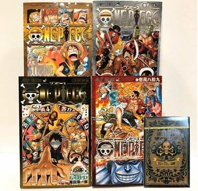 ONE PIECE GOLD Vol 0, 777,10000,10089 with Playing Cards 5 set Anime Book Manga