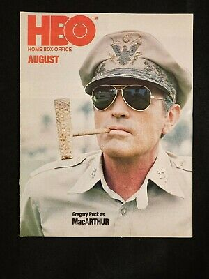 1978 AUG *MacARTHUR/GREGORY PECK* HBO HOME BOX OFFICE MOVIE GUIDE BOOKLET (AS) M