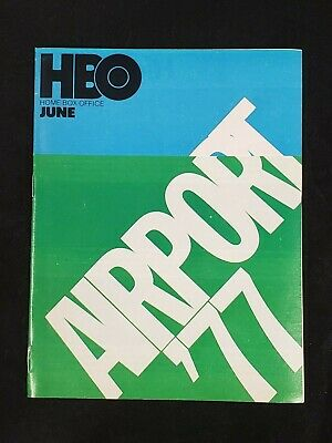 1978 June *Airport 77/Stewart/Lemmon* Hbo Home Box Office Movie Guide (As) M