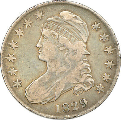 1829 Capped Bust Half Dollar, Very Fine, 50c C00048845