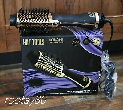 Hot Tools One-Step Pro Blowout Styler Refresh Charcoal Activated 24K Gold