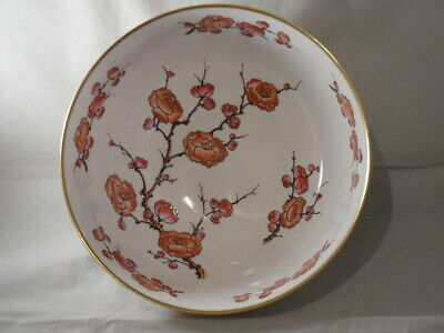 Caverswall Cherry Blossom Hand Painted Large Fruit Bowl Signed By M. Grant 26cms