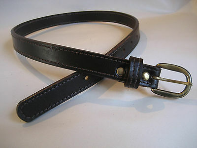 Genuine Brown Leather Kids/Childrens Belt