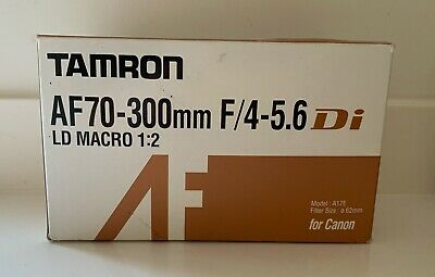 TAMRON AF 70-300mm f/4-5.6 Di LD Macro 1:2 Zoom Lens & Hood for Canon BOXED MINT