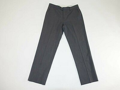 Brooks Brothers Men's Regent Dress Pants 33 x 30 Gray 100% Wool Slacks Lined