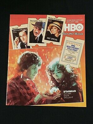 1986 January *Starman-Bridges/Allen* Hbo Home Box Office Movie Guide (As)