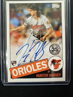 HUNTER HARVEY ON CARD AUTO Autograph RC 35th 2020 1985 Series 1 TOPPS Orioles SP