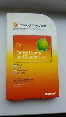 Microsoft Office Home and Student 2010 Product Key Card PRODUCT KEY ONLY