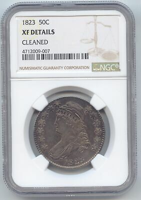 1823 Capped Bust Half Dollar, NGC XF Details