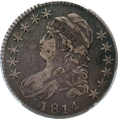 1814 Capped Bust Half Dollar, O-108a, E/A, Crusty Original, PCGS VF 20 CAC